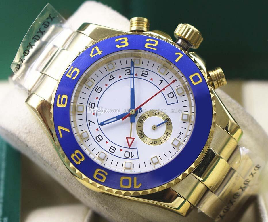 Wysokiej jakości Sapphire 116688 18 K Yellow Gold Perpetual 44mm White Dial Automatyczny ruch Mężczyzna Zegarek Sportowy Ruch Sport Wristwatch
