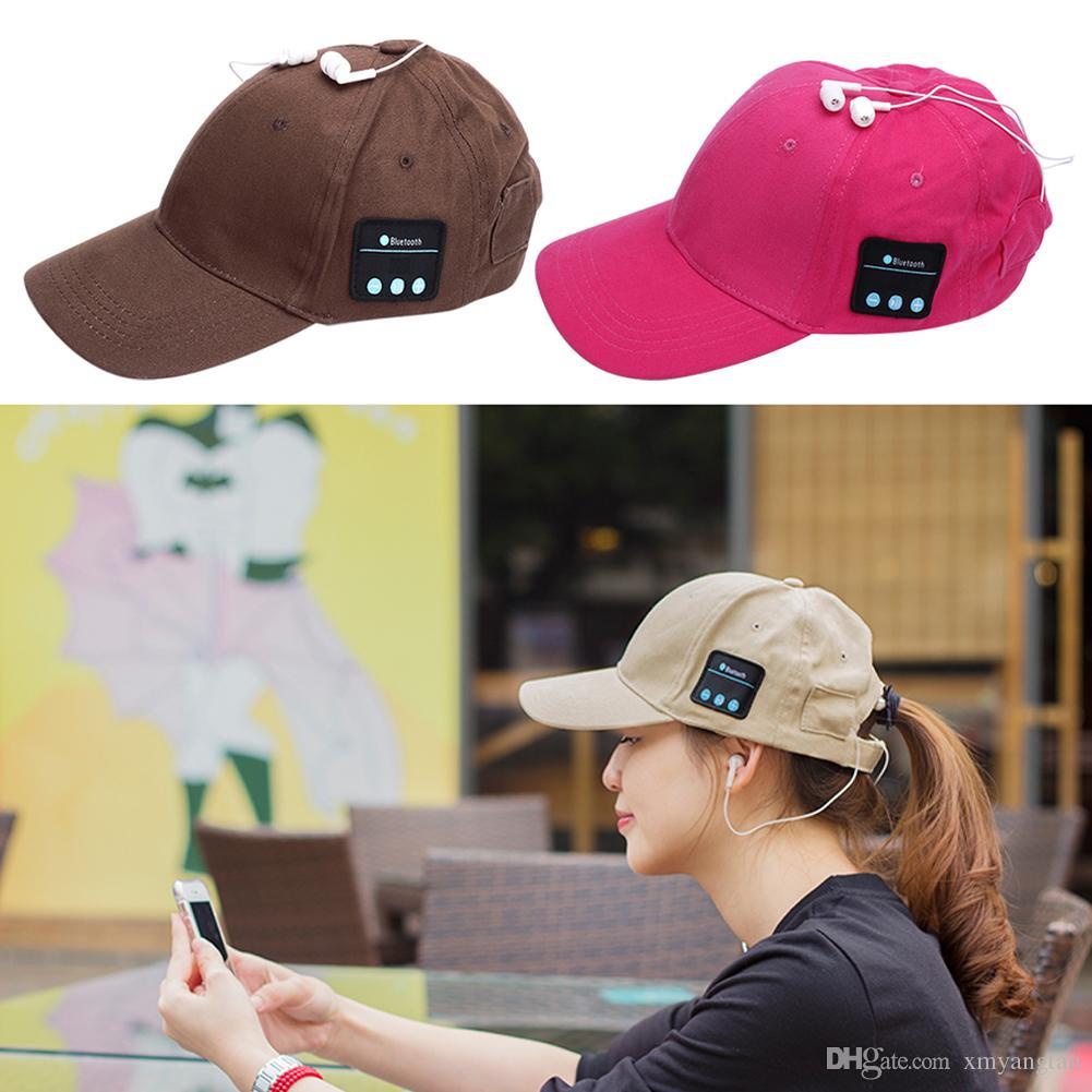 Earphone Hat Wireless Headphones Baseball Cap Gadgets Headset Speaker Mic Bluetooth Headset Hat for Outdoor Sports Freeshipping