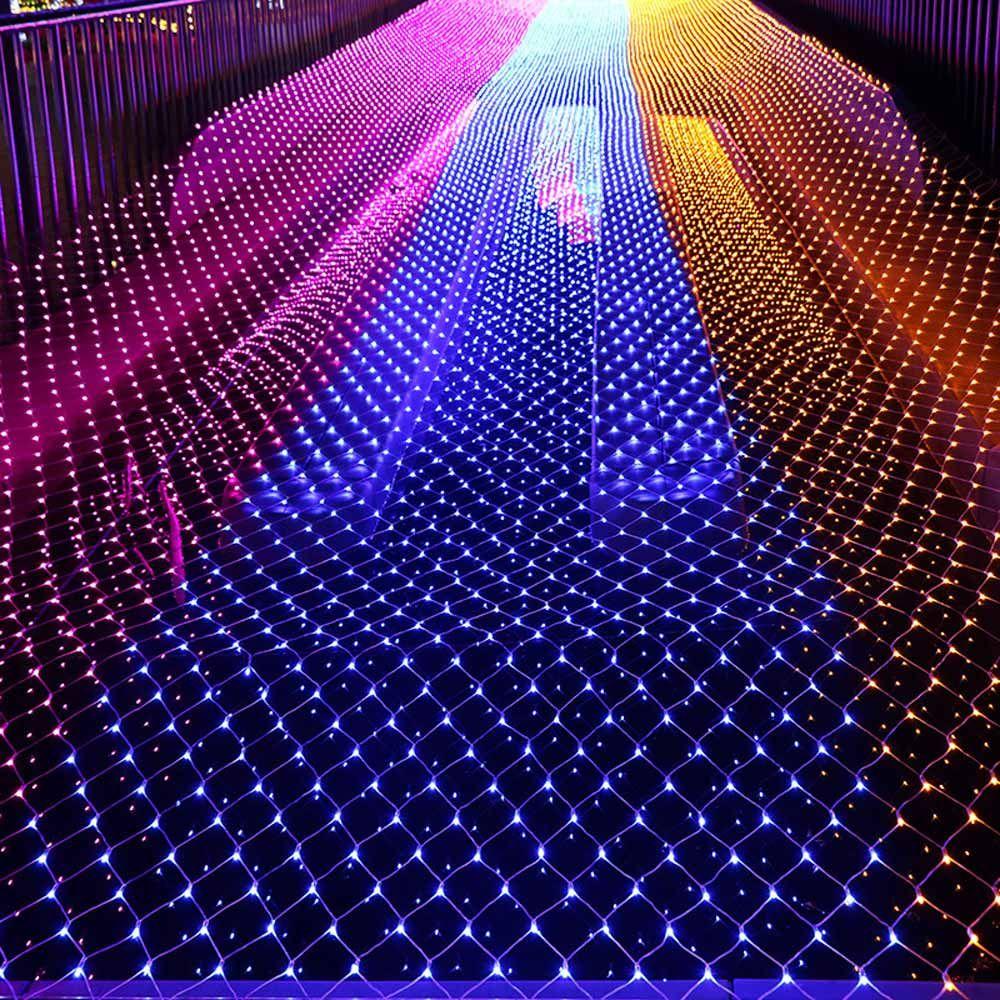 Свет Mesh Рождественские огни Фея украшения Открытый LED Чистый свет сада Декоративные Водонепроницаемые 220V 110V Свадеб отдыха