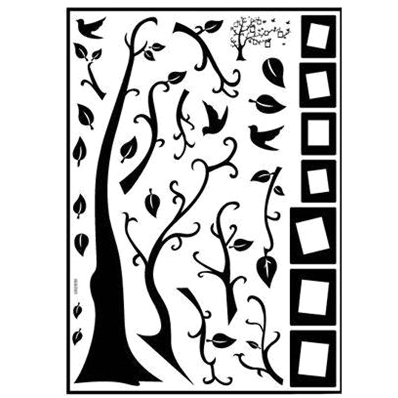 Colorful Diy Photo Frame Tree Of Life Wallpaper Stickers Retro Black