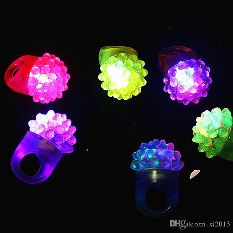 Blinkende Luftblasen-Ring-Party, die weiches Gelee-Glühen blinkt Heißer Verkauf! Coole led leuchten w8200
