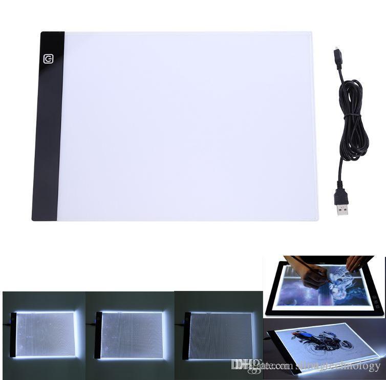디지털 태블릿 13.15x9.13inch A4 LED 아티스트 얇은 아트 스텐실 드로잉 보드 라이트 박스 트레이싱 패드