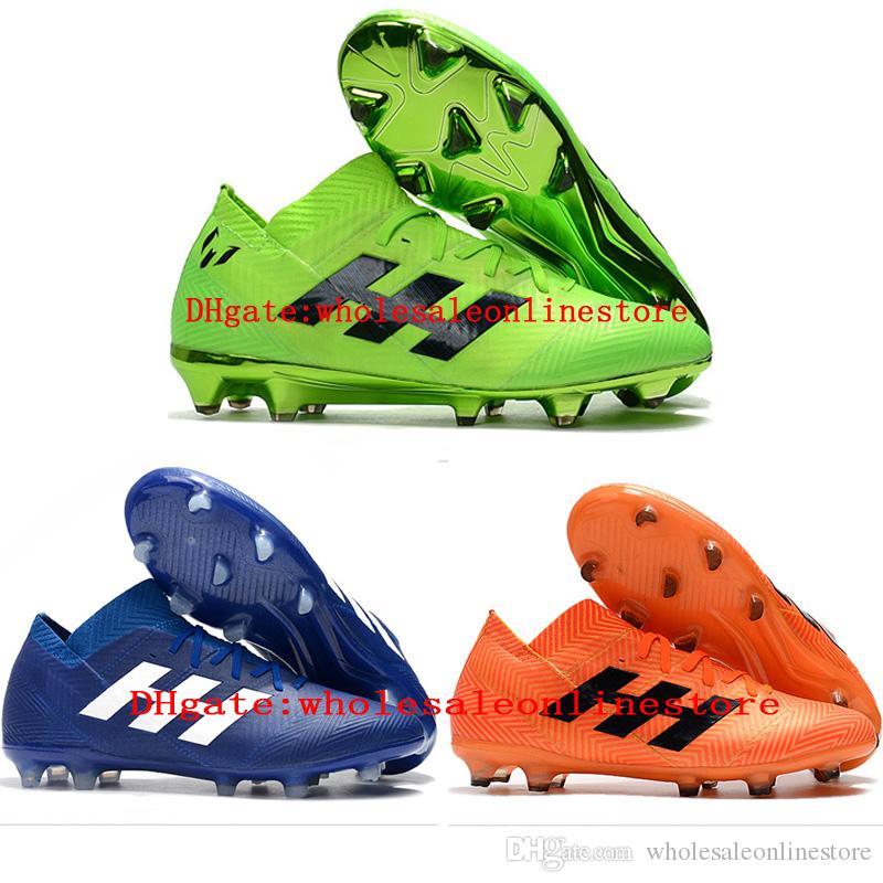 2018 chuteiras de futebol ao ar livre Nemeziz Messi 18.1 360 Agilidade FG chuteiras de futebol mens botas fooball Purecontrol Treinamento Adulto Sapatos Casuais Quente