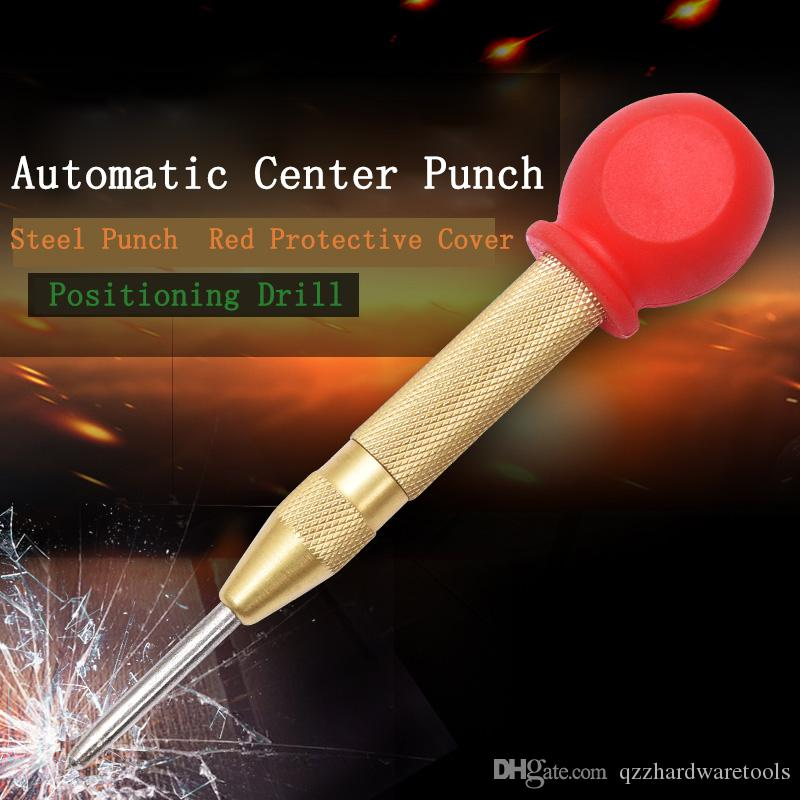 HSS Automatic Drill Center Pin Punch Hole Spring Loaded Marking Starting Tool CO
