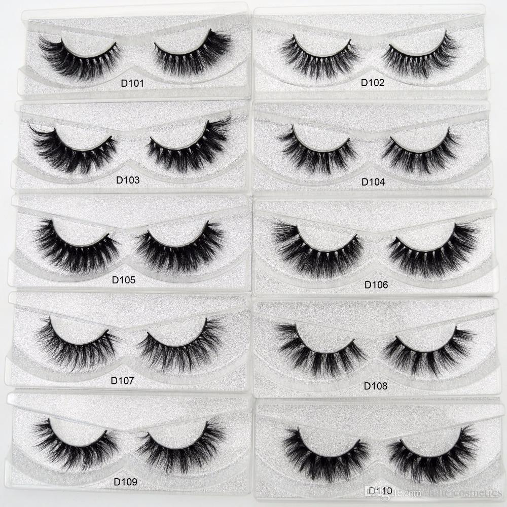 Mink Eyelashes 3D Mink Lashes Thick HandMade Full Strip Lashes Cruelty Free Luxury Mink Curly Lashes D series