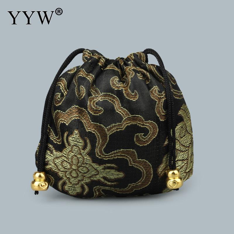 Gioielli di moda 10pcs / lot dei sacchetti dei sacchetti di plastica raso ricamato Calabash gioielli Imballaggio Borse Wedding Bag regalo di Natale