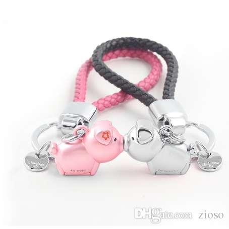 Milesi 3D поцелуй свинья пару брелок для любителей подарок Брелок милый брелок женщин автомобиль брелок Chaveiro sleutelhanger