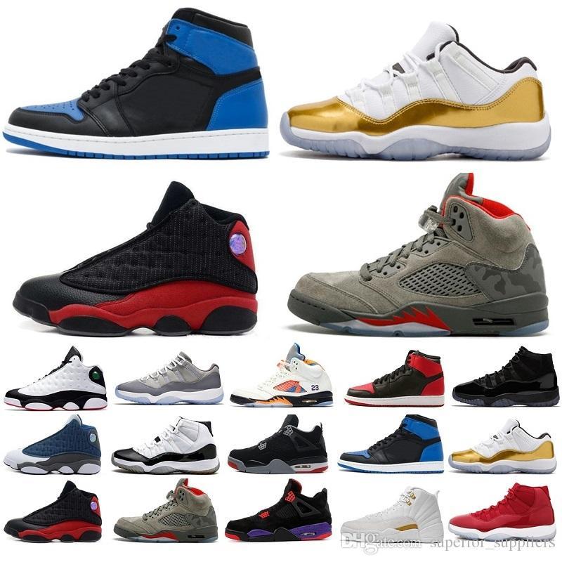 Nike air jordan retro Nouveautés 11 13 12 4 1 5 11s 13s 12s 4s 1s 5s Gym Red Chicago Midnight NavyIl a un jeu UNC Space Jam PRM Heiress Chaussures de basket-ball pour hommes