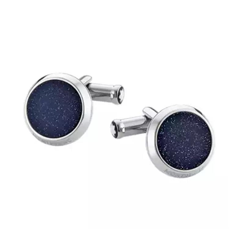 Luxury Shirt Cufflinks Germany MB Brand Starry sky Design Cuff Buttons High Quality Steel Cuff links For Men Abotoadura Jewelry