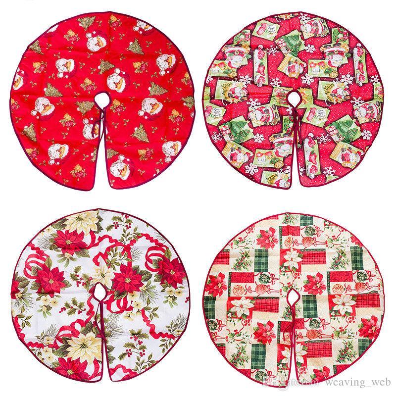 Décorations de noël arbre de Noël jupe tapis de sol de noël pour la maison joyeux Noël arbre ornement 60cm en stock