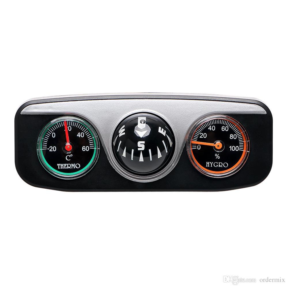 سيارة الحلي البوصلة ترمومتر الرطوبة للسيارات قارب السيارات 3 في 1 دليل الكرة الملحقات الداخلية