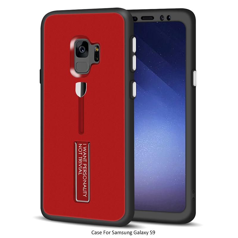 360 Degree Full Body Protective Case Cover with Kickstand for Samsung Galaxy S9 S9plus