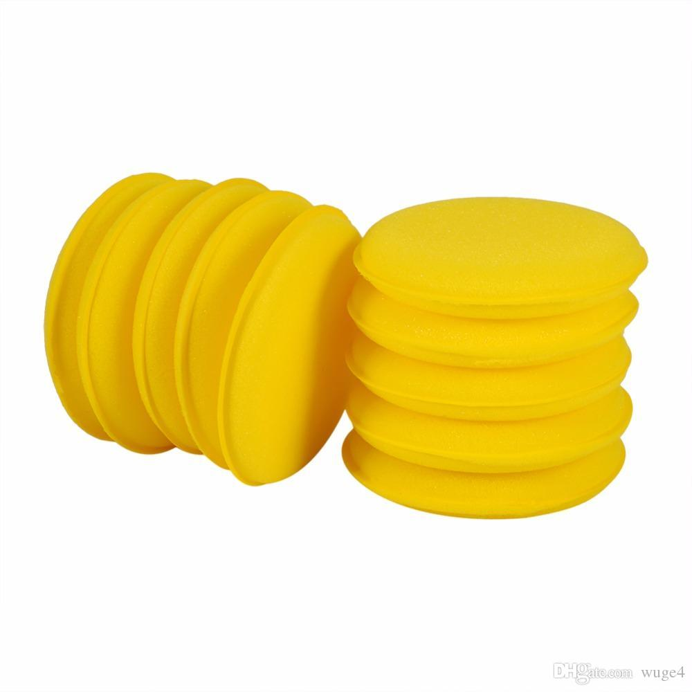 Super Soft Microfiber Buffing Pads with Pocket Car Vehicle Cleaning Orange 10Pcs Car Wax Foam Sponge Polishing Pads