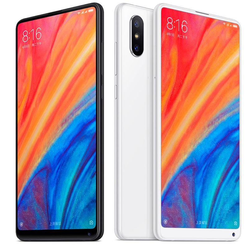 """원래 Xiaomi MI 믹스 2S 256GB ROM 8GB RAM 스마트 휴대폰 Snapdragon 845 octa 코어 안드로이드 5.99 """"전체 화면 12.0MP AI NFC 페이스 ID 지문 4G LTE 휴대 전화"""