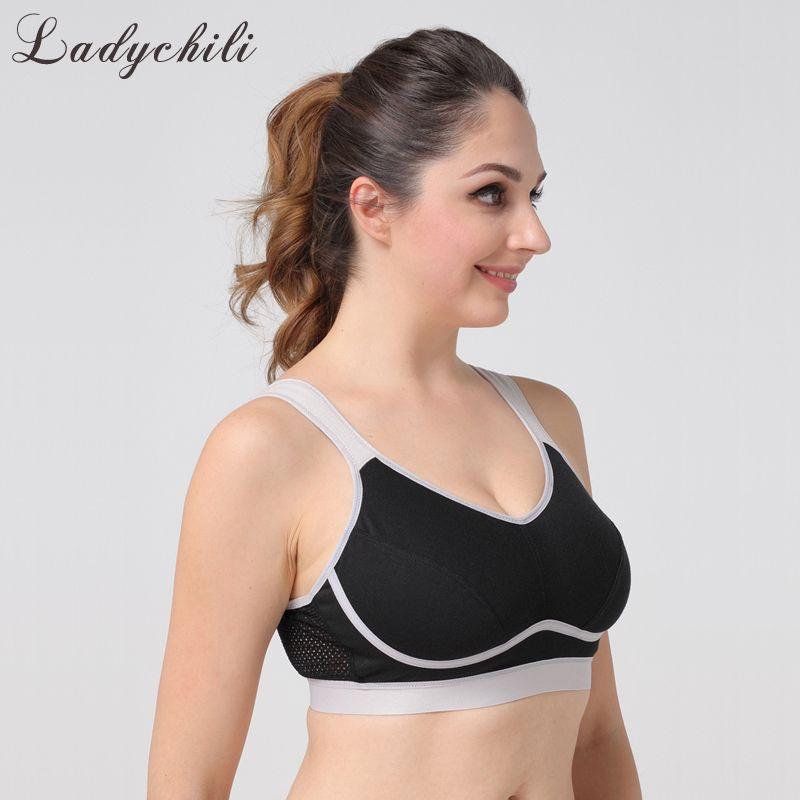 wholesale Women Intimates Big Breast Black Wide Strap Wide Bra Full Cup Wireless Super Comfort Plus Size Bra No Push Up Bra WD38