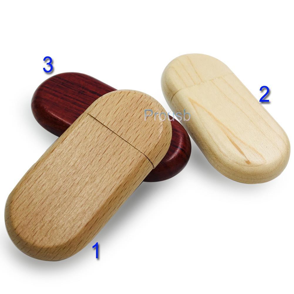 10PCS 1GB 2GB 4GB 8GB 16GB Wood Oval Memory Pendrive Sticks True Capacity USB Flash Drive 2.0 Suit for Laser Engraved Logo