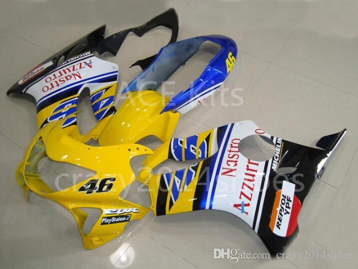 3 free gifts New Injection mold Fairing kit for HONDA CBR600F4 99 00 CBR600 F4 1999 2000 CBR 600 ABS Black Yellow White A10