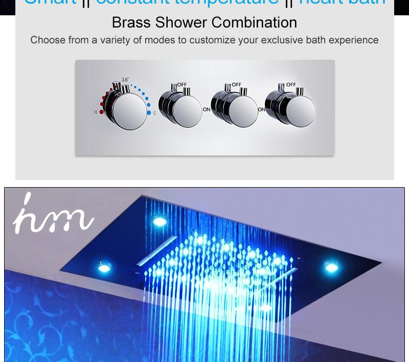 Waterfall LED Shower Faucet Set Contemporary Bathroom Rain Shower Head Side Spray Large Water Flow Bath Valve (6)