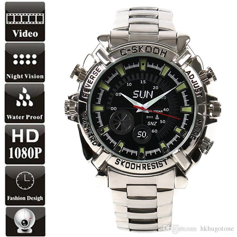 HD 1080P Waterproof Watch Camera 16GB 8GB Mini Cameras Infared Night Vision MIini DV Watch DVR