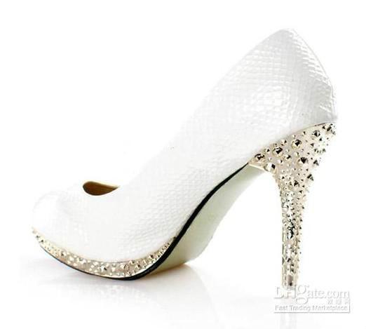2016 Yeni Beyaz bayan ayakkabıları Yüksek topuklu Elbise Ayakkabı gelin düğün ayakkabı Parti AYAKKABı.