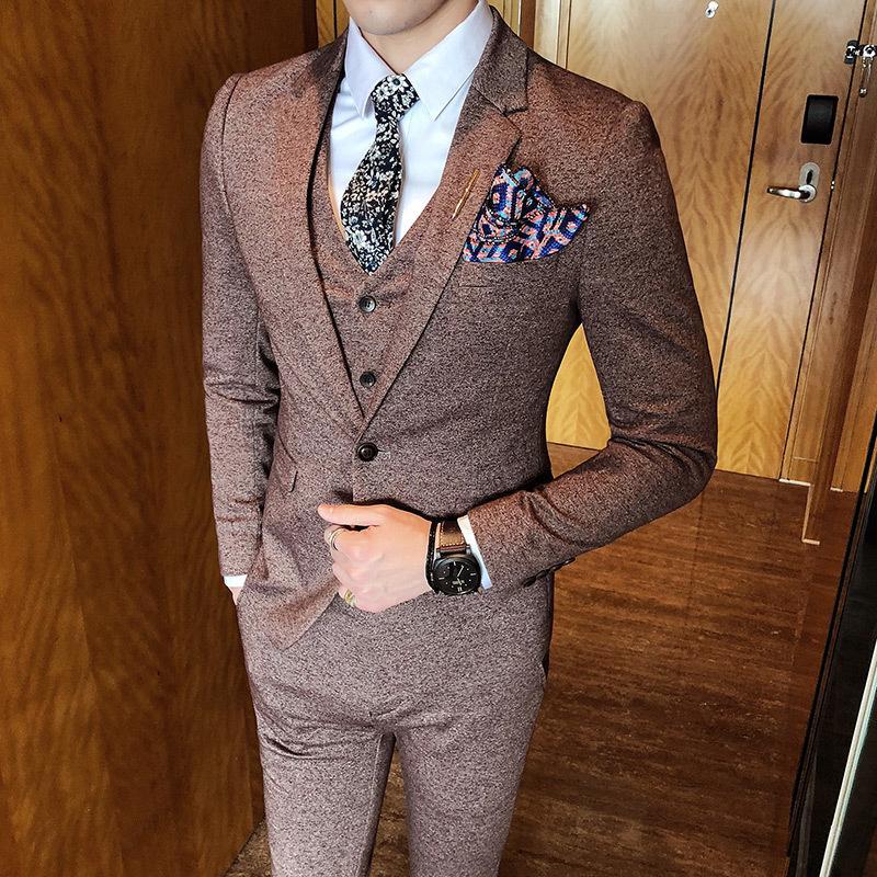 Abiti Eleganti Uomo 2018.Acquista Abiti Eleganti Uomo 2018 New Vintage Classic Suit Rosa