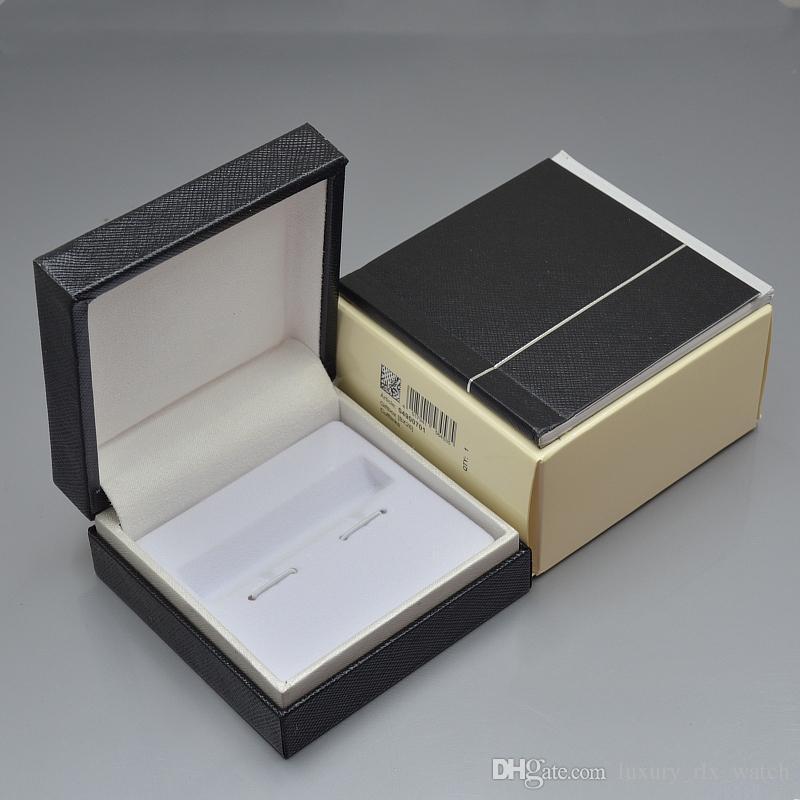 Lujo MB Gemelos Caja de Madera de Grado Superior Negro Madera gemelos enlaces Caja con Manual de Garantía Como Navidad Embalaje de regalo de Cumpleaños de Alta calidad