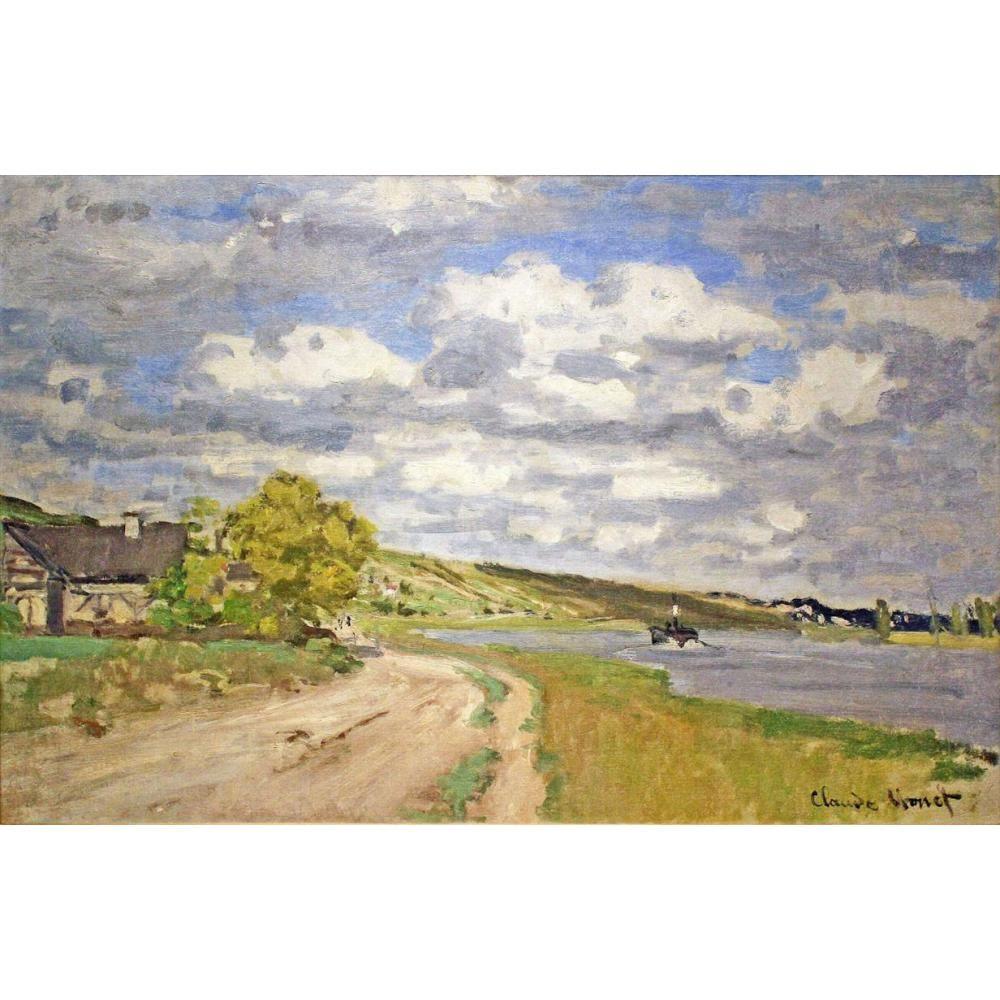Quadro su tela Pitture a olio dipinte a mano da Claude Monet L'estuario del dipinto di Siene per decorazione murale