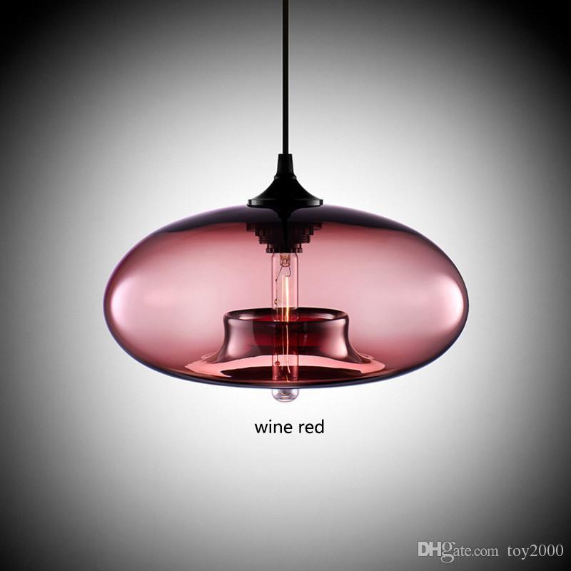 Nuovo Semplice Modern Contemporary appesa 6 palla di vetro di colore luminoso della lampada a sospensione Lampade e27 / E26 per Kitchen Restaurant Cafe Bar 1334