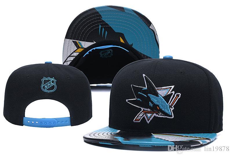 Nuovo arrivo nhl Berretti da baseball Blackhawks Pinguini Volantini Sharks Sport Snapback Cappelli regolabili Casquette Swag Chapeu de sol Carras Bone