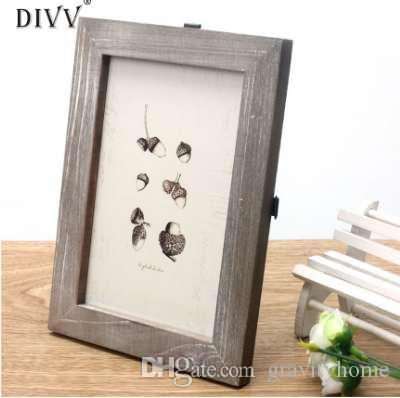 Home Wider DIVV Vintage Photo Frame Home Decor Wooden Wedding Casamento Pictures Frames sep923 Drop Shipping