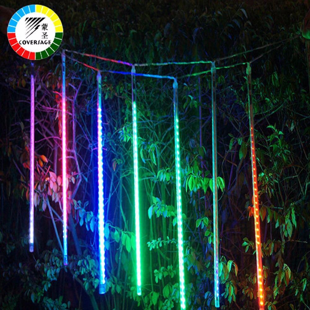 Coversage Meteor Douche Pluie Tube 30 CM 50 CM 5 Pcs Arbre De Noël Décoratif Luces Rideau Lumières extérieures Xmas Led String Light