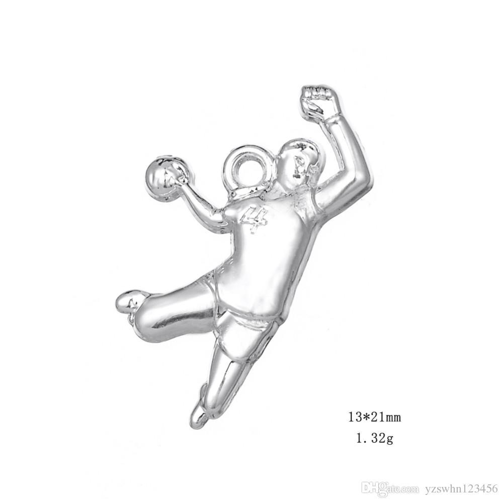 Ручной Баскетболист Бодибилдинг Спорт Фитнес Прелести Для Ожерелье Браслет Кулон Изготовление Ювелирных Изделий