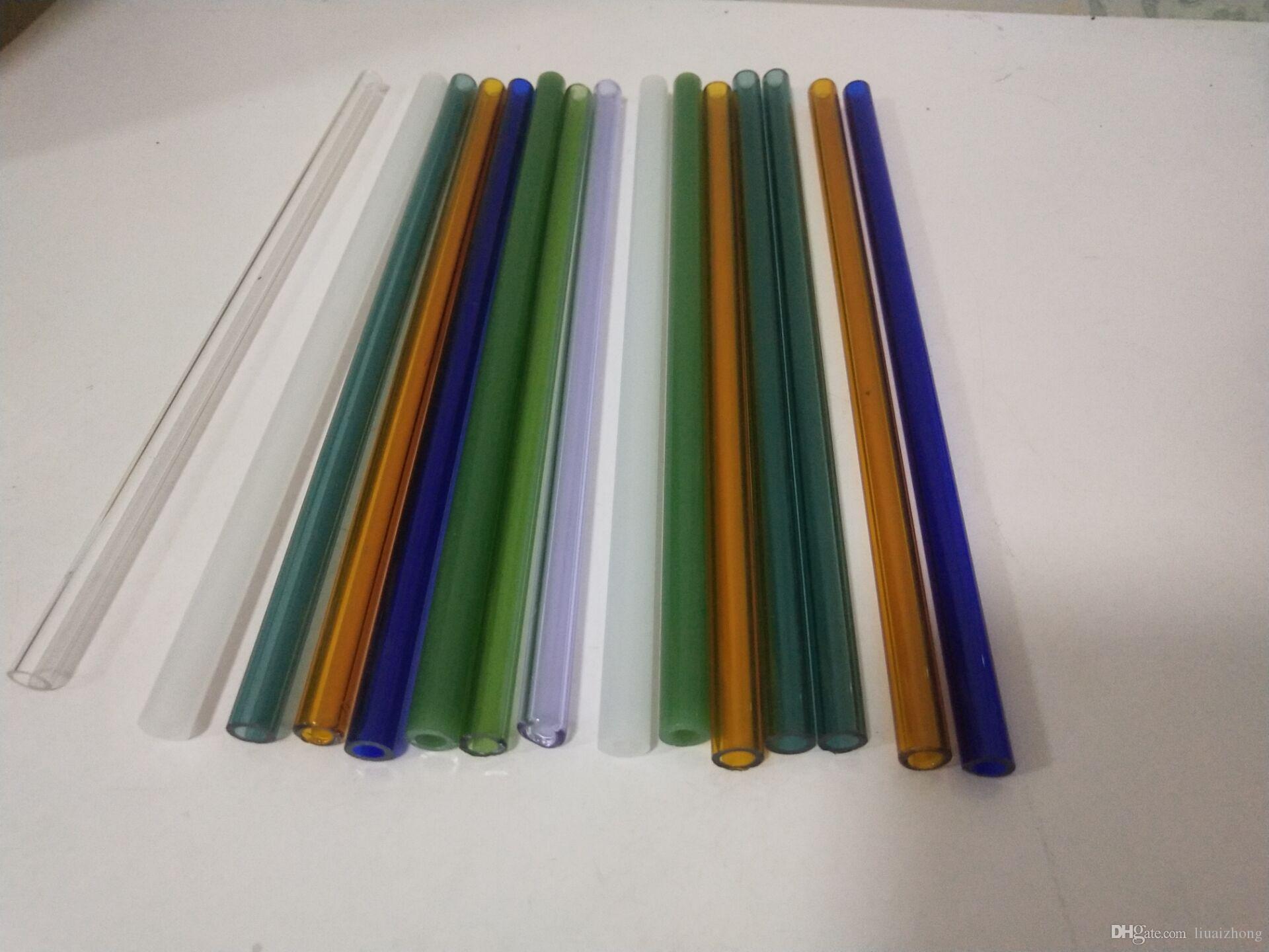 Новый высокий боросиликат цветные стеклянные водопроводные трубы фитинги цвет стеклянная трубка длина 20 см стекло бонг