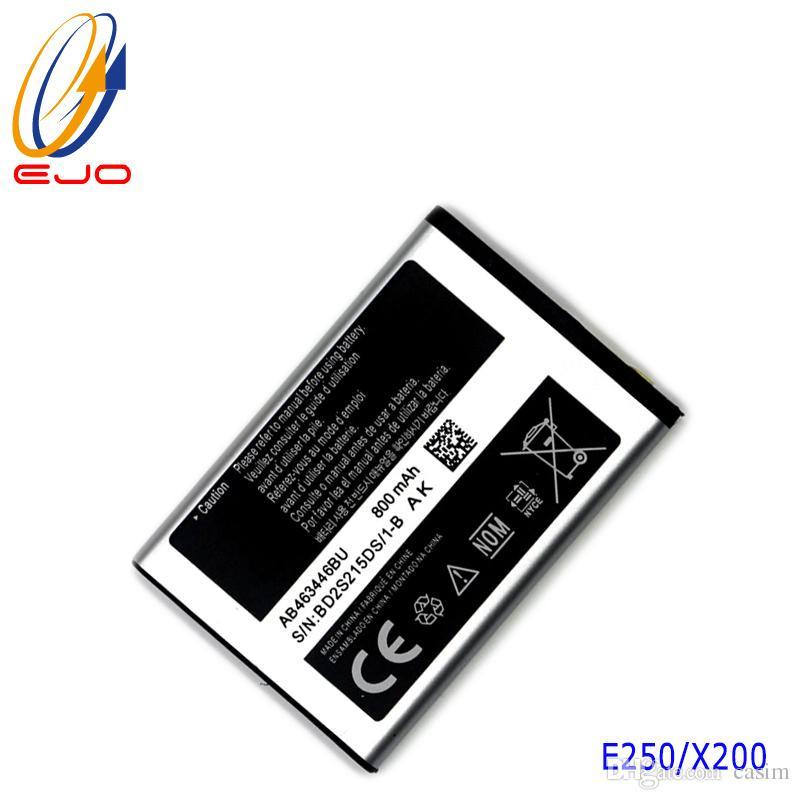 Samsung E250 Pil için AB463446BU 800 mAh X200 batterie Samsung Galaxy X208 Için Yedek pil Akku