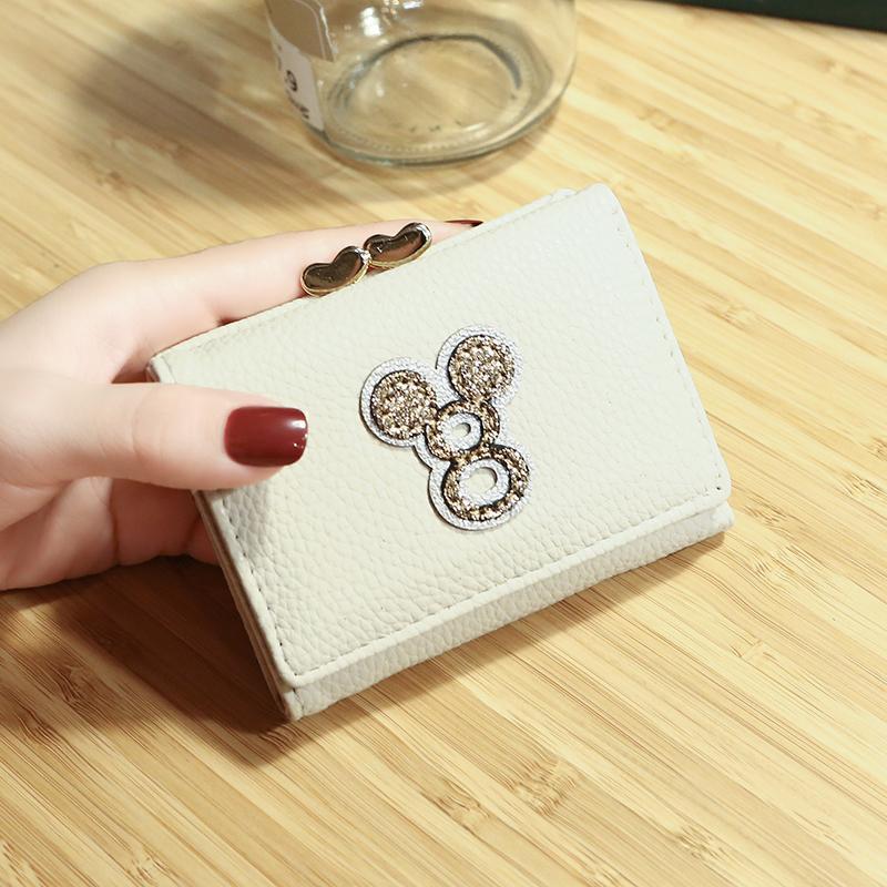 جديد لطيف البسيطة المحفظة النساء حلقة صغيرة بلون محفظة بو الجلود حامل بطاقة محفظة الإناث صغيرة السيدات غطاء جواز سفر المحفظة