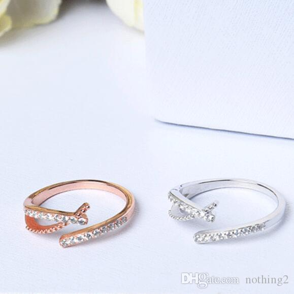 jewerly S925 bagues en argent sterling pour les femmes zircon anneaux magiques simples libres de mode chaud classique de l'expédition
