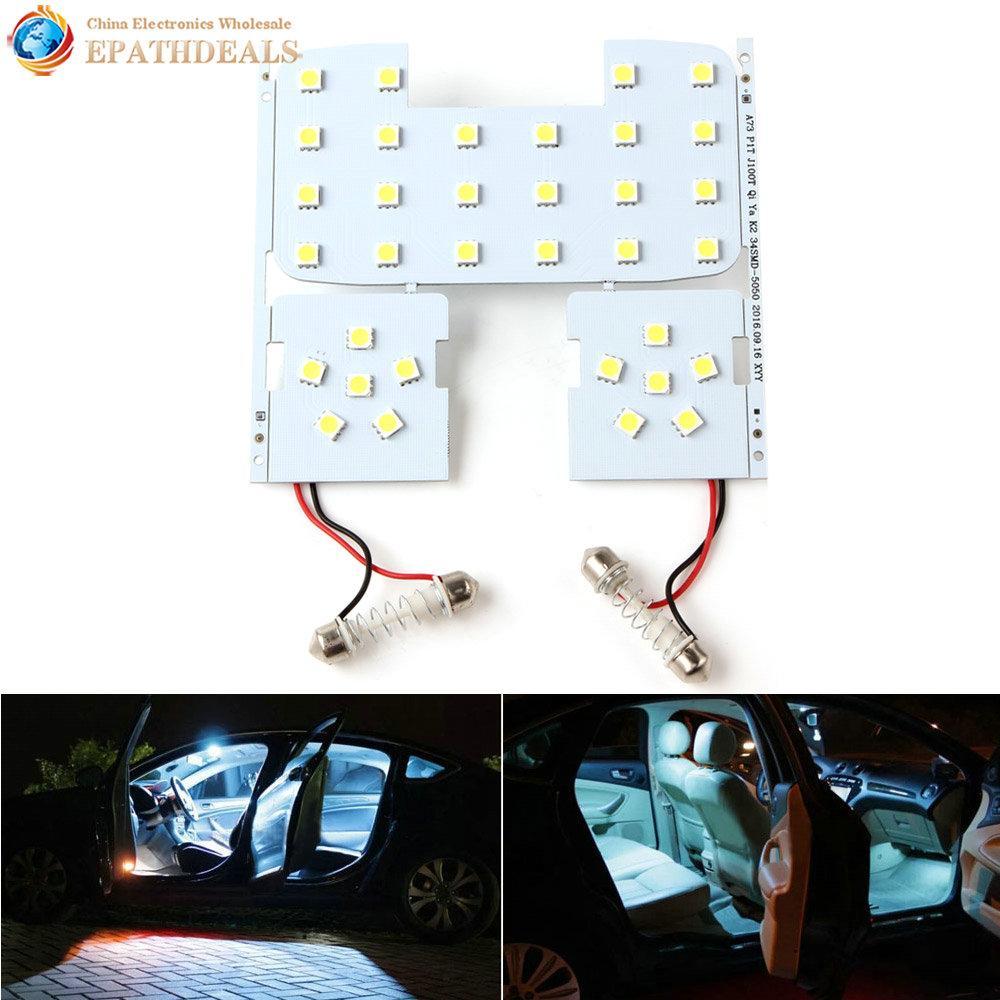 36//48 Smd Cob Led 12V White Light Car Interior Panel Lights Dome Lamp Bulb Gut