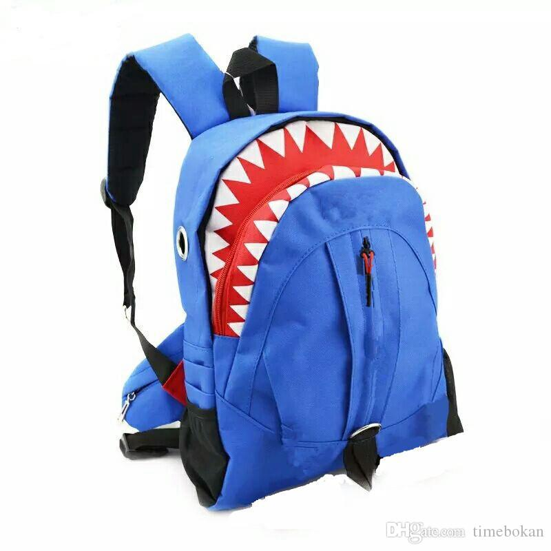 Shark Kids Bags Backpack Cute Cartoon Animal Tooth Children Backpacks Big Boys Kindergaden High School Backpacks
