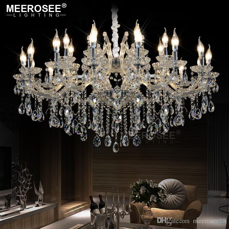 Lampada di cristallo lussuosa della lampada del candeliere di cristallo per il progetto del ristorante di Foyer Lampada di Maria Theresa che appende illuminazione dell'interno