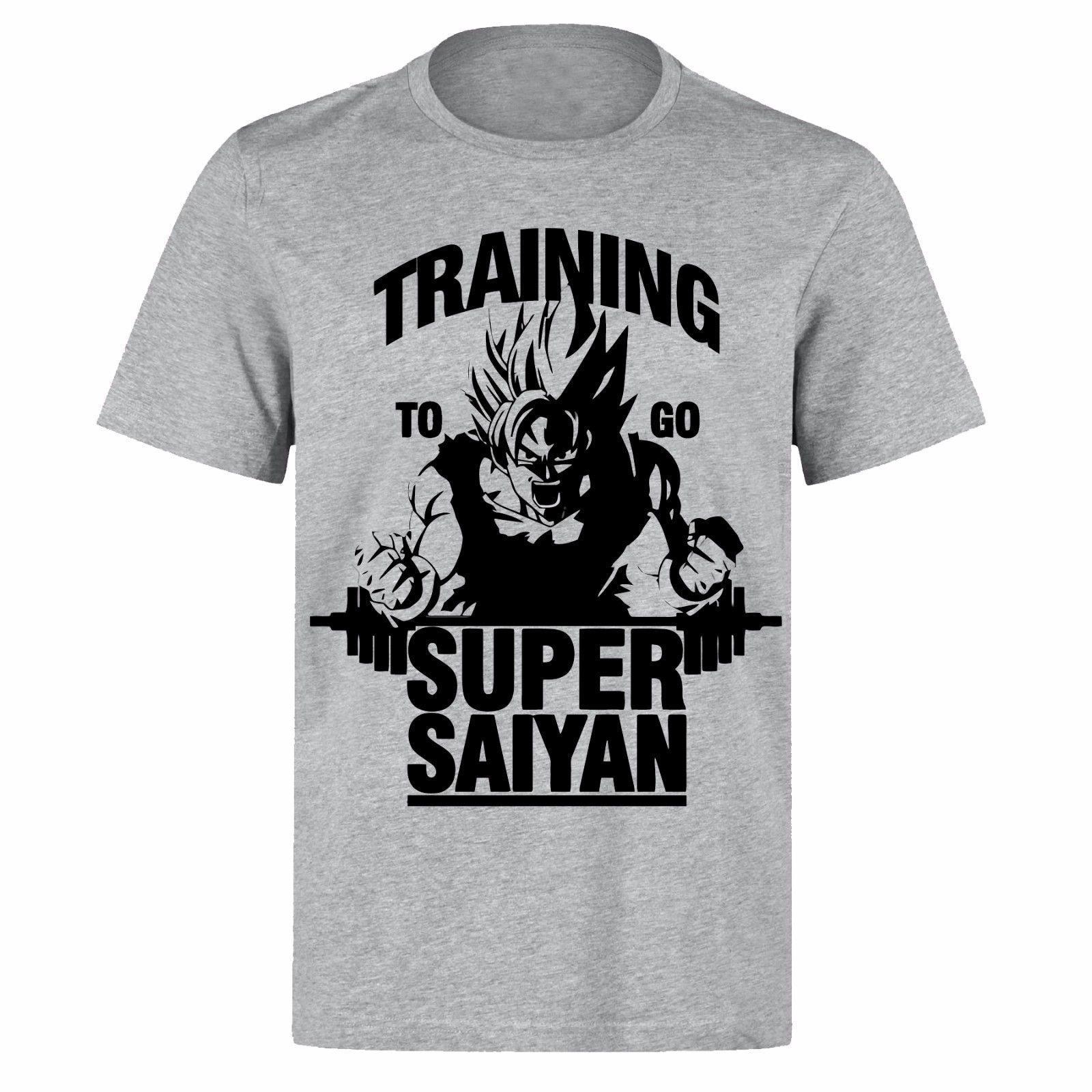 Training to Go Super Saiyan Mens Gym Vest Training Dragon Ball Z Fitness