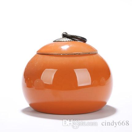 Chinese Tea Storage Canister New Ceramic Kitchen Tea Coffee Sugar Spice Jar Containers Travel Tea Storage Tins canister