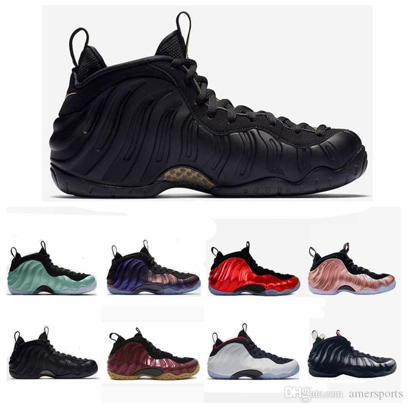 official photos 00e69 48c03 2018 New Arrival Penny Hardaway Foams Black Gold Army Green Mens Basketball  Shoes Air Eggplant Maroon Foams Athletic Sport Sneakers Mens Shoes ...
