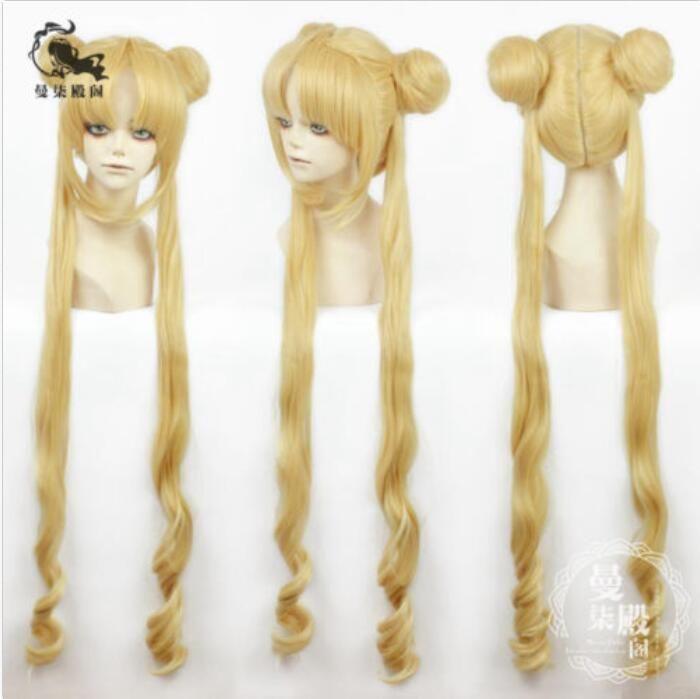 14 Sailor Moon Tsukino Usagi lange blonde Stil Cosplay Perücke