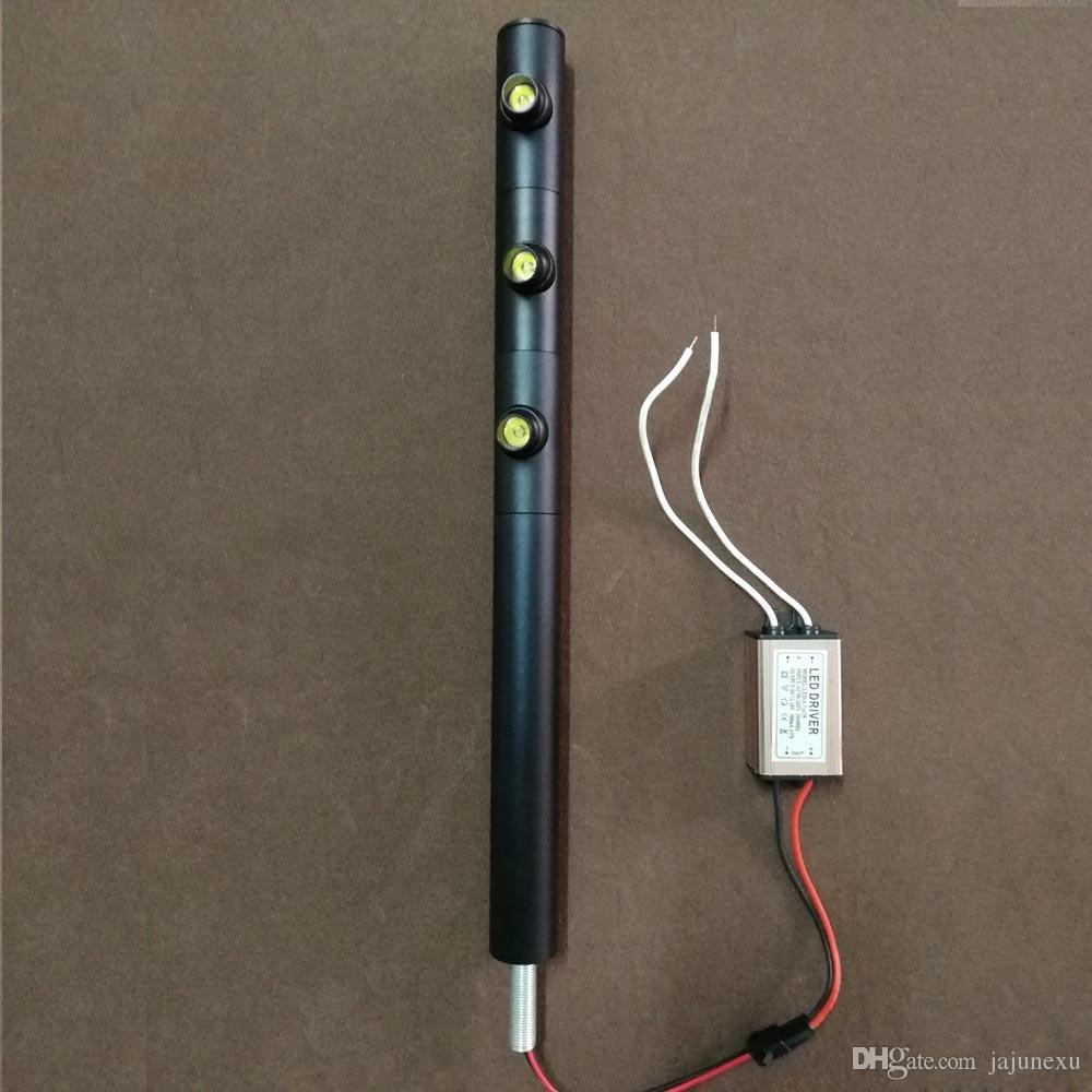 3W 280MM الارتفاع تصميم فريد من نوعه الصمام مجوهرات عرض مجلس الوزراء يقف الأضواء المصنوعة في الصين للبيع