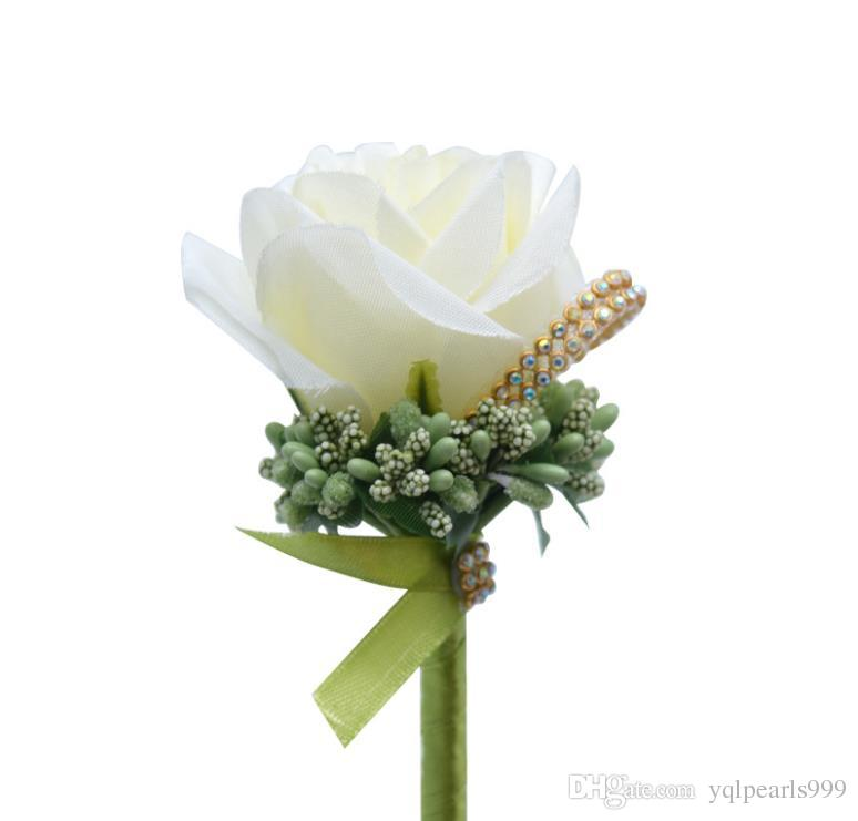 Düğün simülasyon çiçek broş erkek Broş uzun iğne düğün gelin Broş