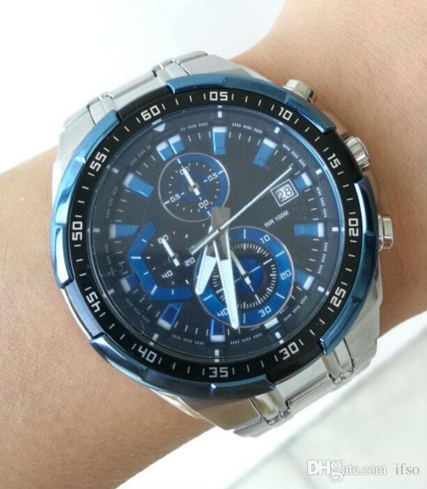 EF-539D montre de sport 558D montre à quartz de montres de mode pour le sport homme montre-bracelet livraison gratuite de plein air