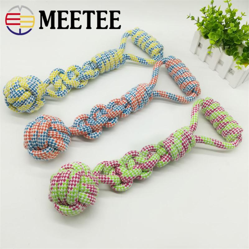 MEETEE Pet Supply Dog Rope Chew Toy Outdoor Training Fun Playing Cat Cani Giocattoli Per cani di taglia media DC-172