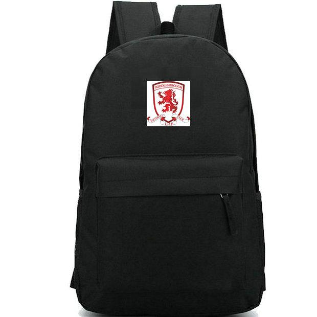 Middlesbrough backpack Boro daypack Riverside Stadium Football club schoolbag Soccer team badge rucksack Sport school bag Outdoor day pack