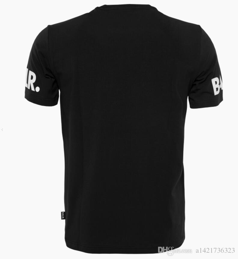2019 balr t shirt moda verão estilo BALRED t shirt homens de manga curta tshirt clothing fundo redondo longo de volta balr t-shirt europeu tamanho
