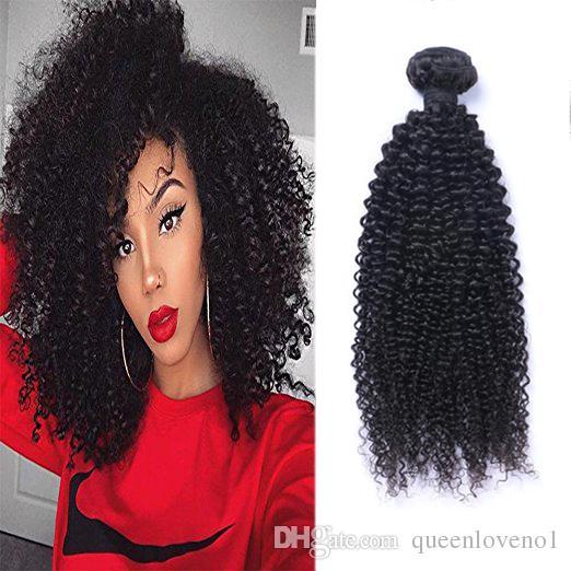 브라질 버진 인간의 머리카락 변태 곱슬 곱슬 미처리 레미 헤어 weaves double wefts 100g / 묶음 머리 위사